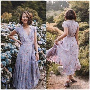 🆕 Reformation lilac purple floral wrap dress- L